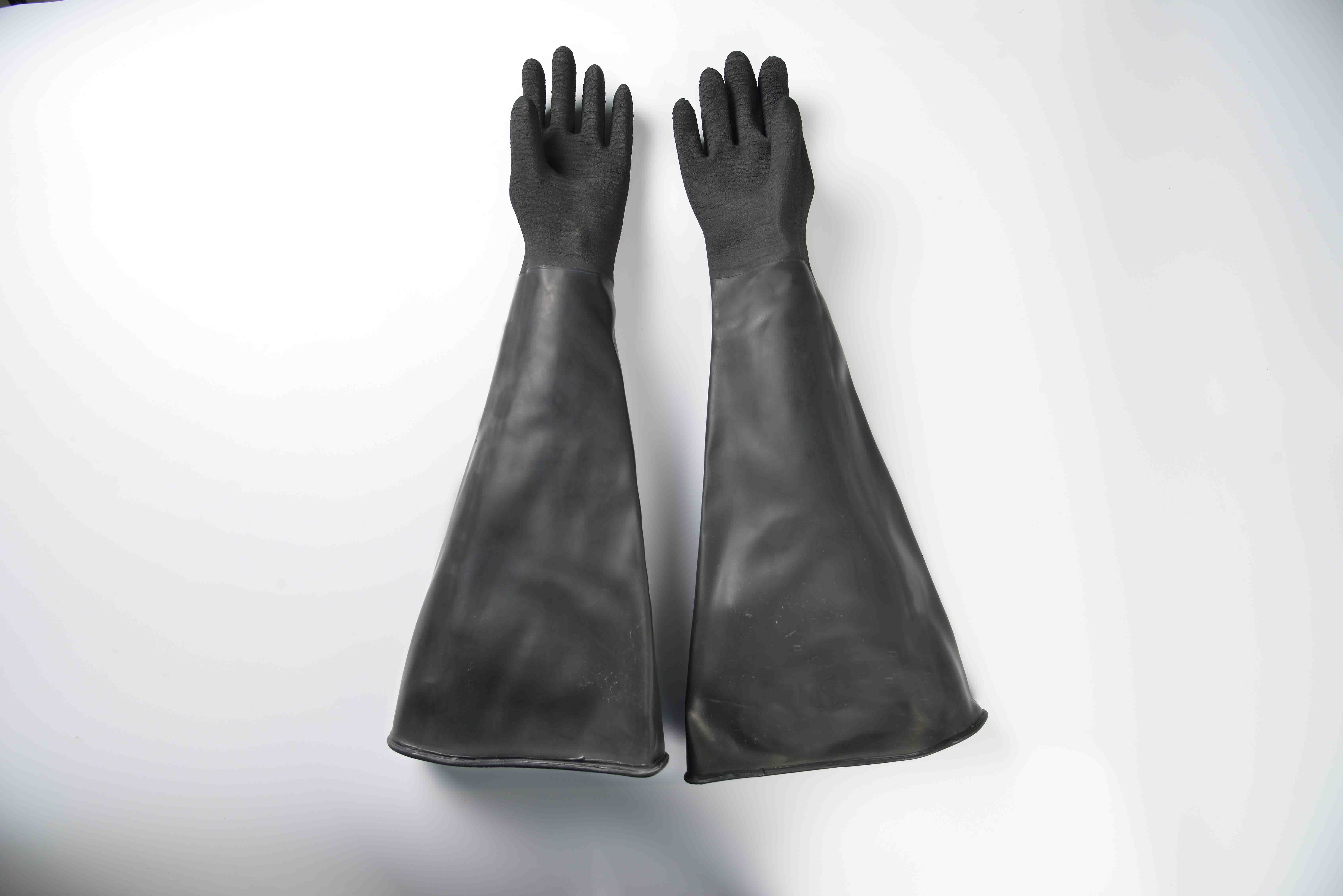Hot-selling attractive price 26″ Industrial rubber glove-rough finish Singapore Factory