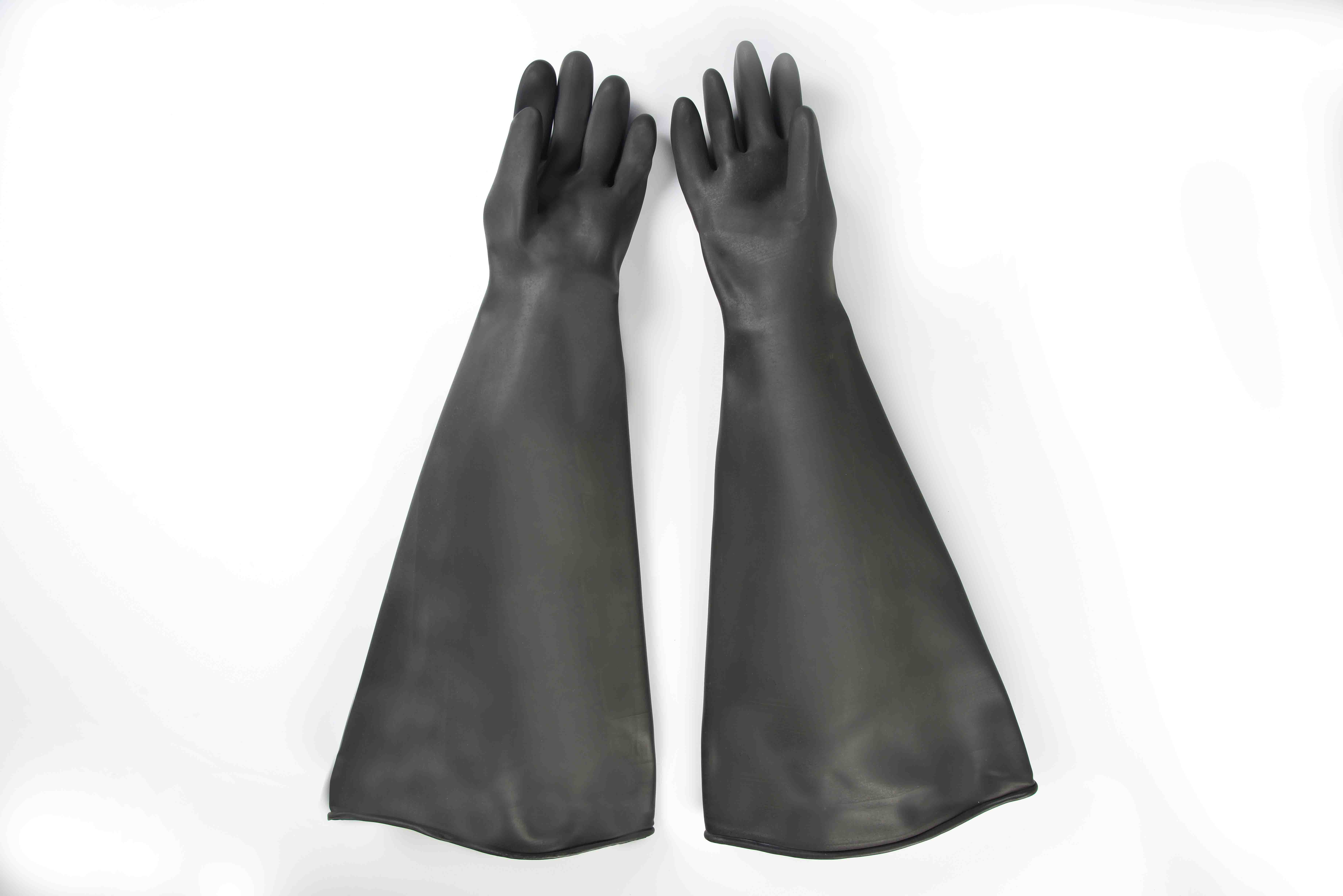 Hot sale reasonable price 26″ Industrial rubber glove-smooth finish sale to Russia