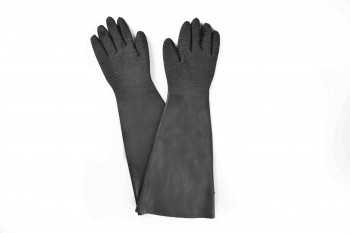 24″ rubber glove – cotton linning-rough finish