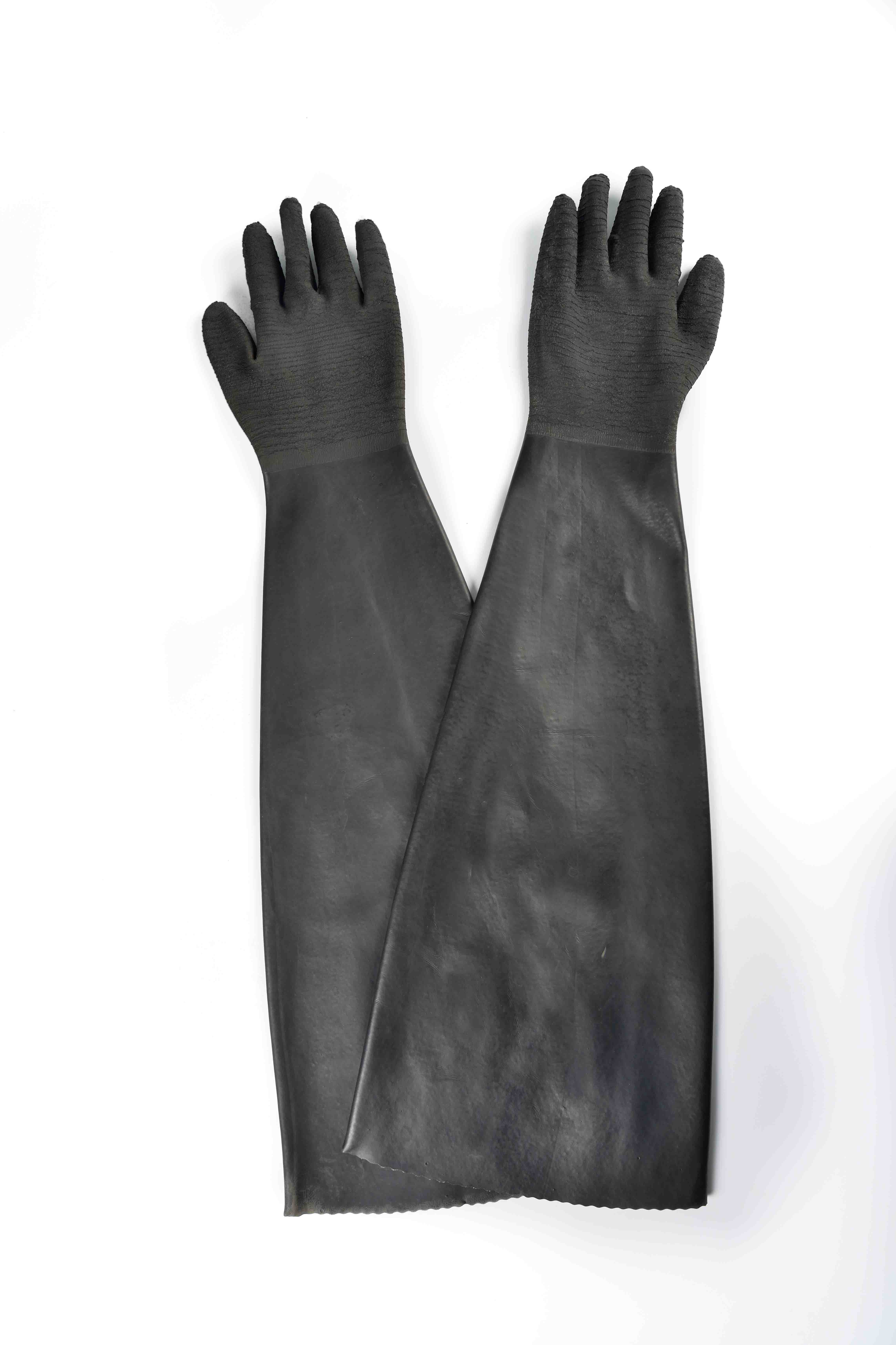 High Definition For 32″ rubber glove with cotton linning-rough finish Liverpool Supplier